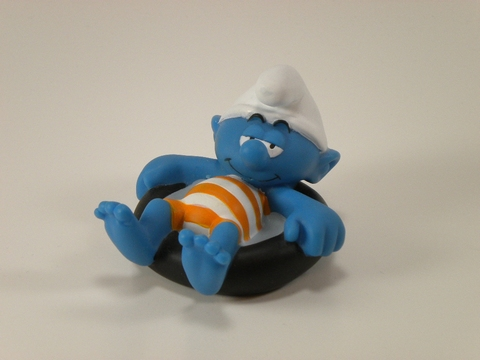 Bad Smurf in rubberband